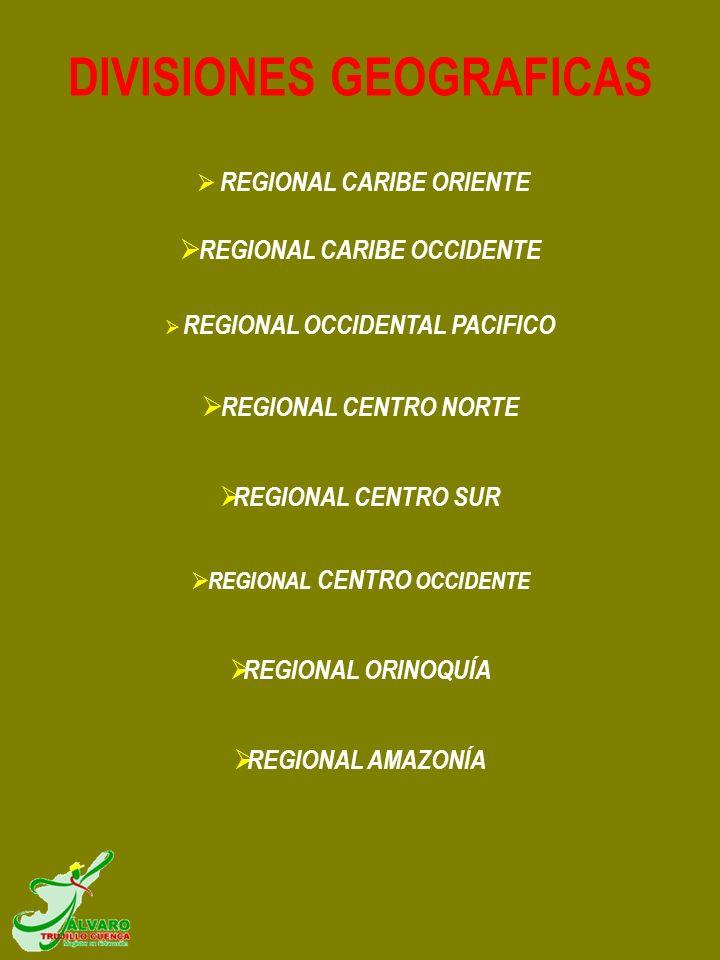 REGIONAL CARIBE ORIENTE REGIONAL CARIBE OCCIDENTE REGIONAL OCCIDENTAL PACIFICO REGIONAL CENTRO NORTE REGIONAL CENTRO SUR REGIONAL CENTRO OCCIDENTE REG