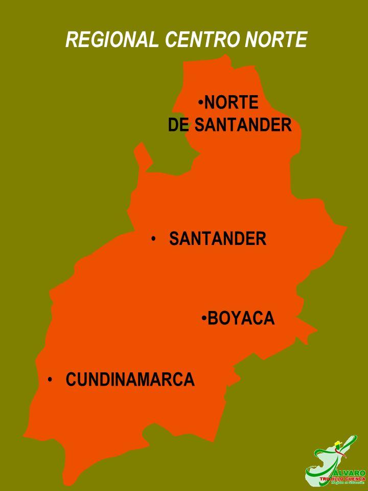 REGIONAL CENTRO NORTE NORTE DE SANTANDER SANTANDER BOYACA CUNDINAMARCA