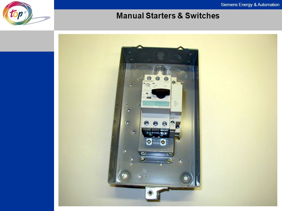 Siemens Energy & Automation Manual Starters & Switches