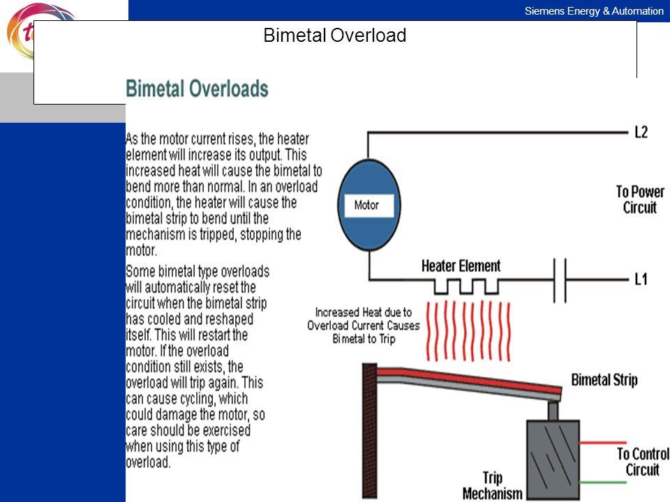 Siemens Energy & Automation Bimetal Overload