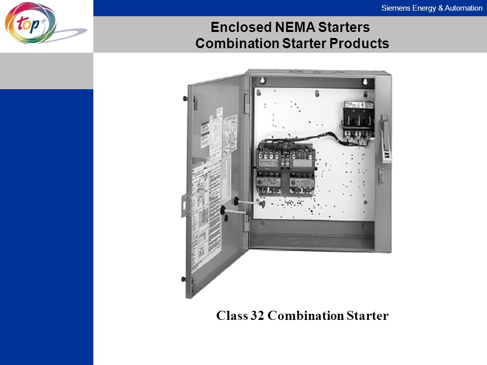 Siemens Energy & Automation Enclosed NEMA Starters Combination Starter Products Class 32 Combination Starter
