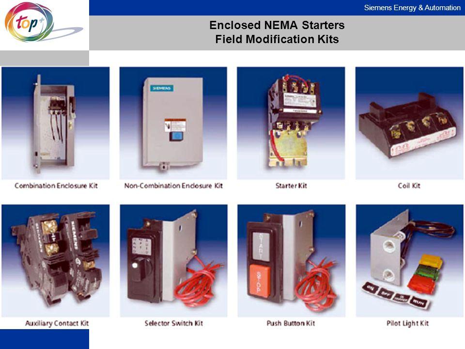 Siemens Energy & Automation Enclosed NEMA Starters Field Modification Kits