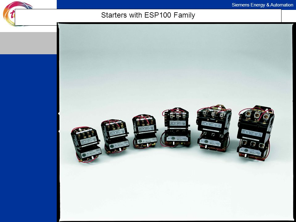 Siemens Energy & Automation Starters with ESP100 Family