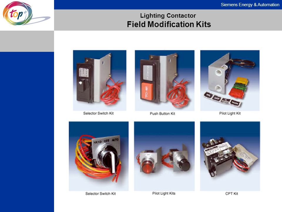 Siemens Energy & Automation Lighting Contactor Field Modification Kits