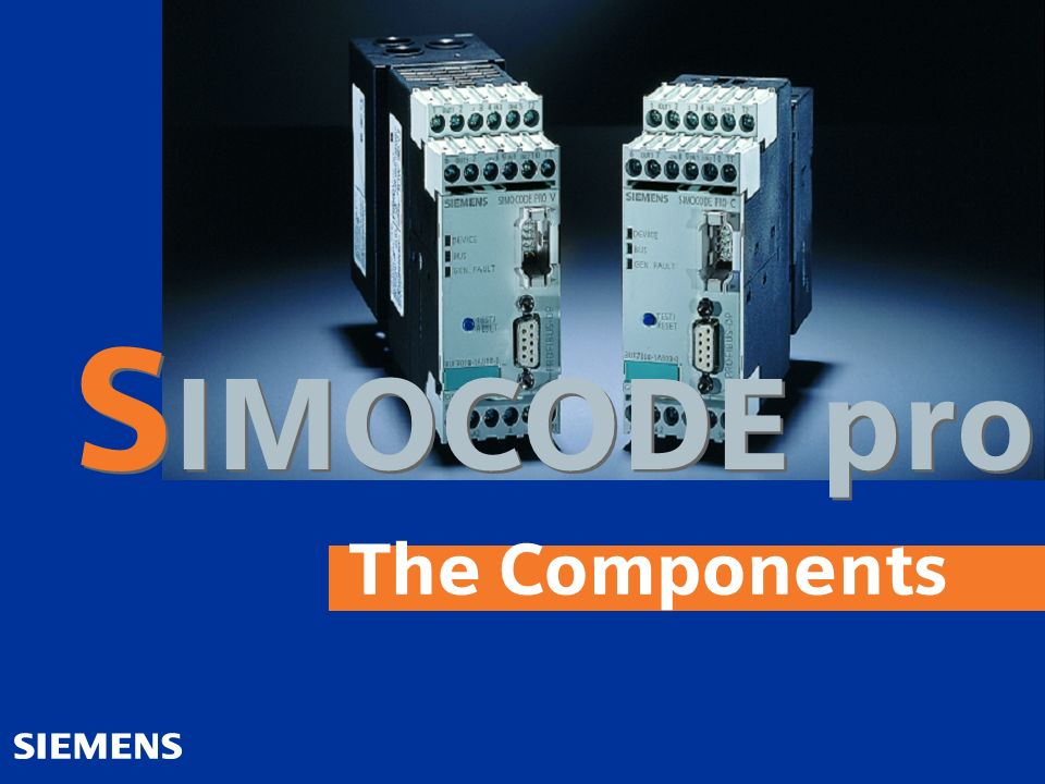The Components S IMOCODE pro
