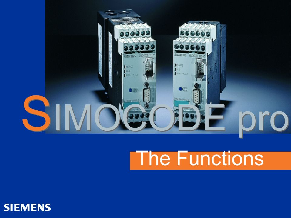 The Functions S IMOCODE pro