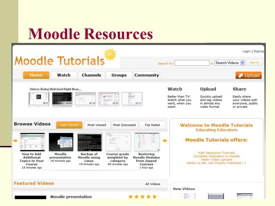 Moodle Resources Moodle Tutorials Online