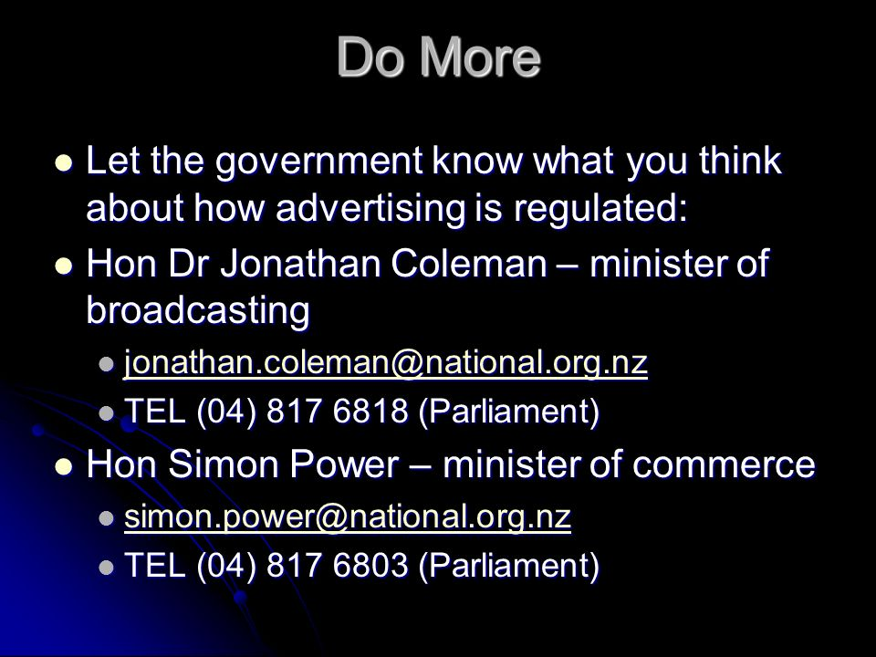 Do More Let the government know what you think about how advertising is regulated: Let the government know what you think about how advertising is reg