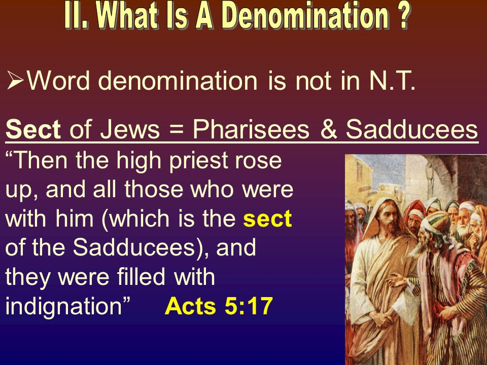 Word denomination is not in N.T.