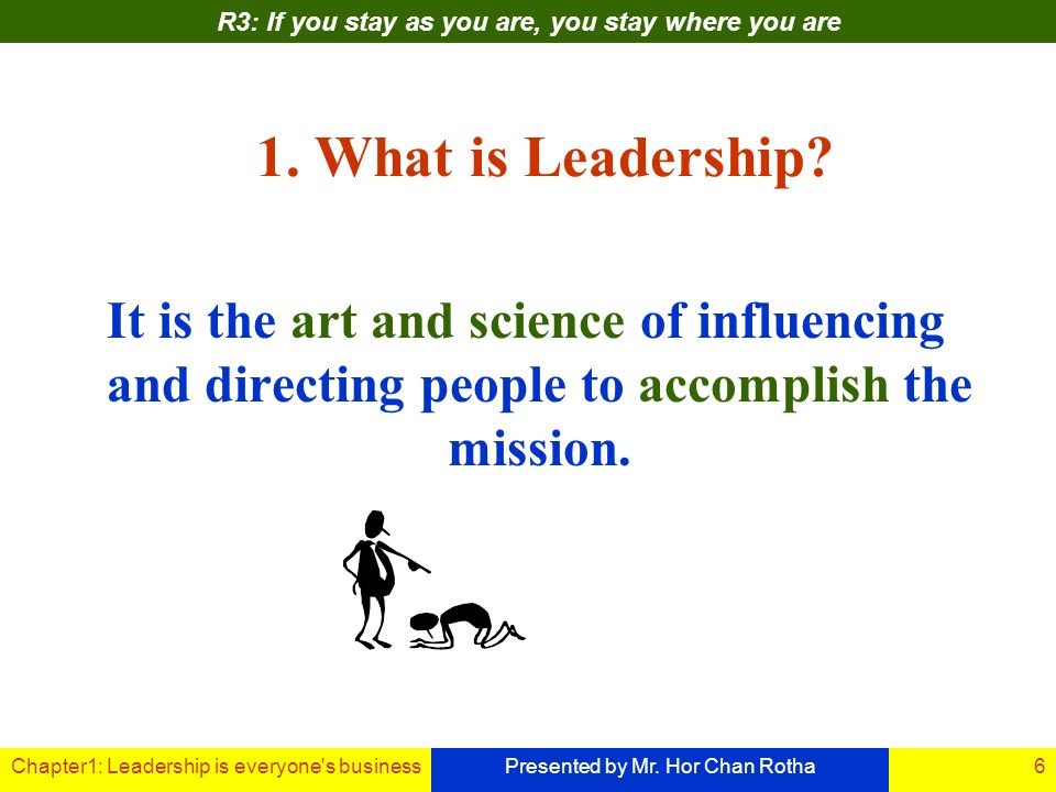 Chapter1: Leadership is everyone s businessPresented by Mr.