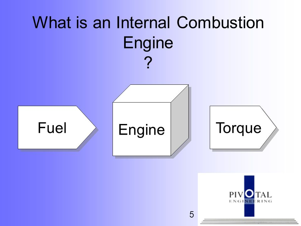 5 What is an Internal Combustion Engine ? Engine Torque Fuel