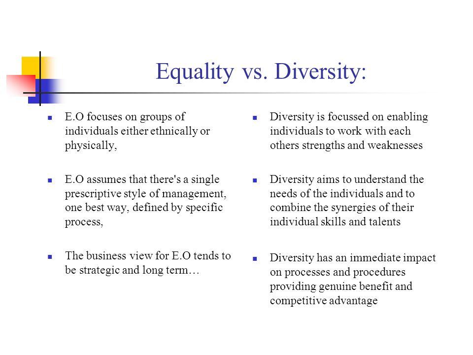 Equality vs.