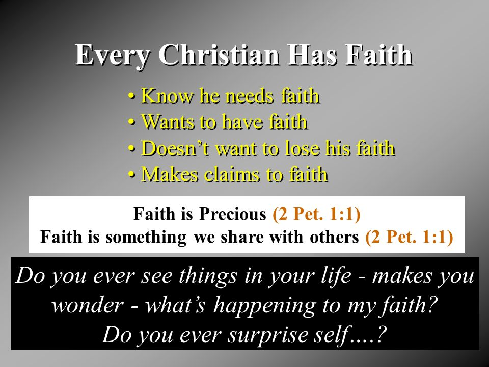 What Is Happening To My Faith.I. Faith Is Extremely Important II.
