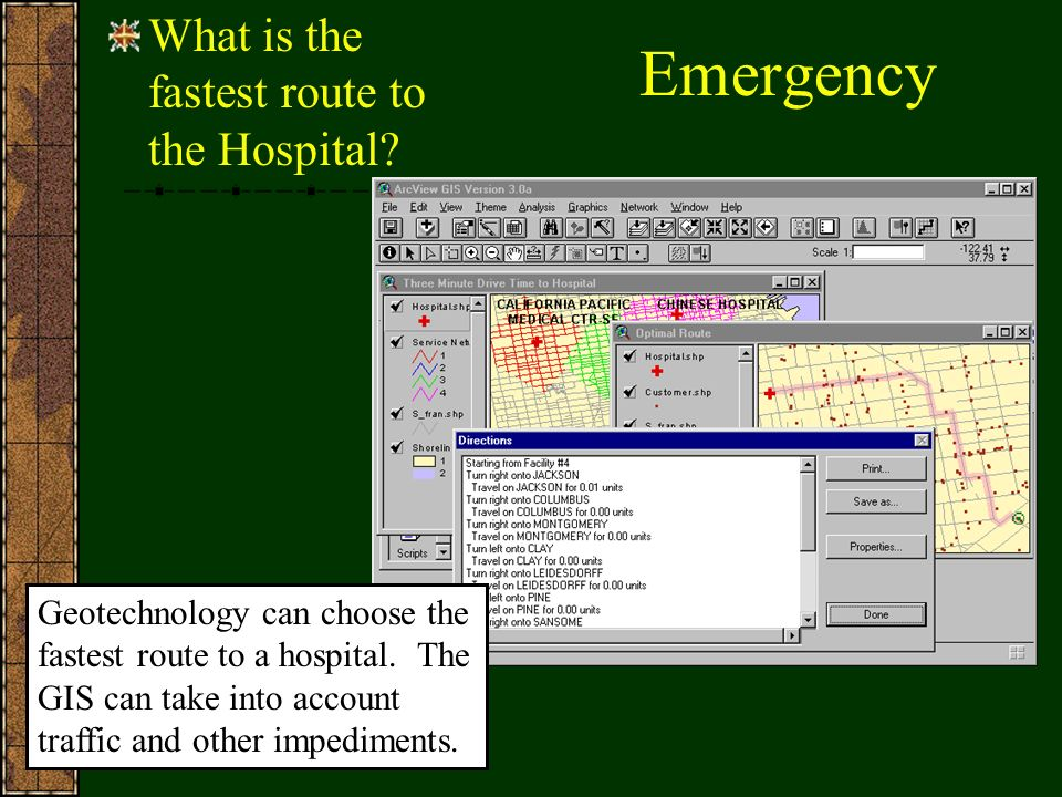 Emergency What is the fastest route to the Hospital.