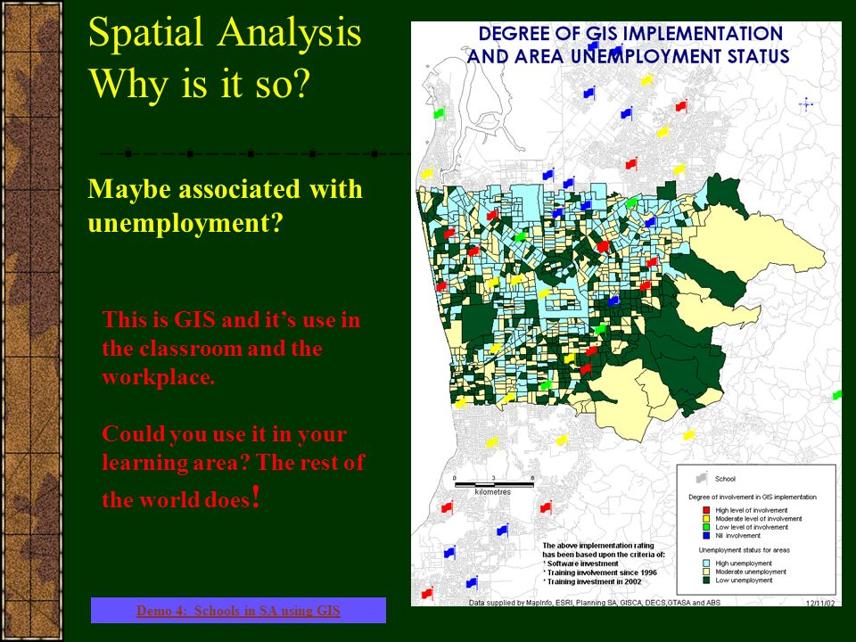 Spatial Analysis Why is it so. Maybe associated with unemployment.
