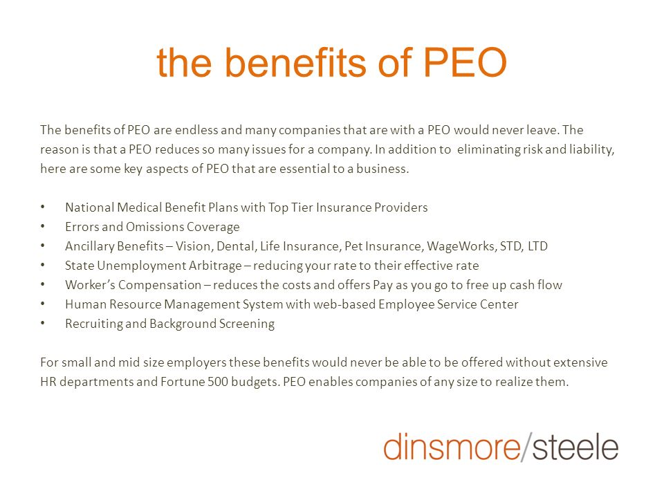 why use a PEO.