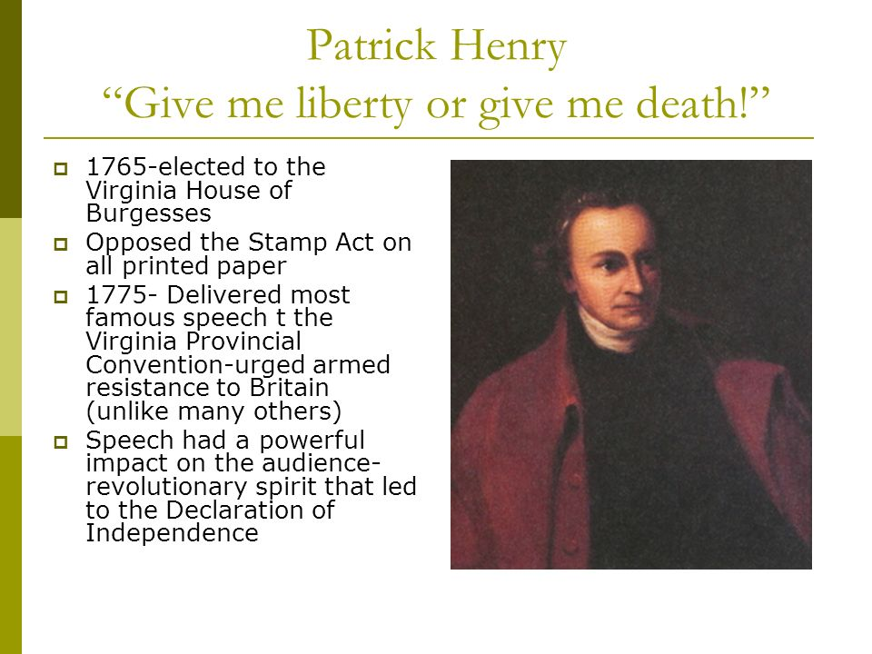 patrick henry rhetoric essay Excerpt from essay : patrick henry's speech slavery had existed for a very long time it is still existent however, the form may have changed anti-slave laws and abolitionist movement had been there in the past to stop slave trade in africa.