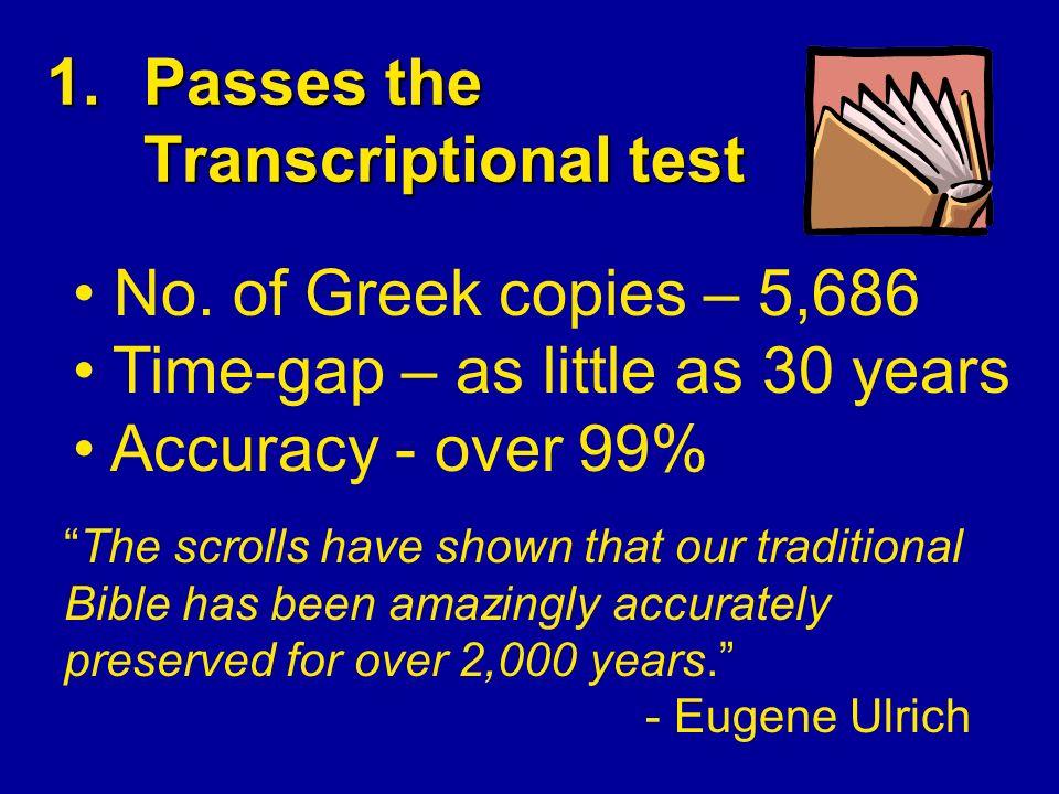 1.Passes the Transcriptional test No.