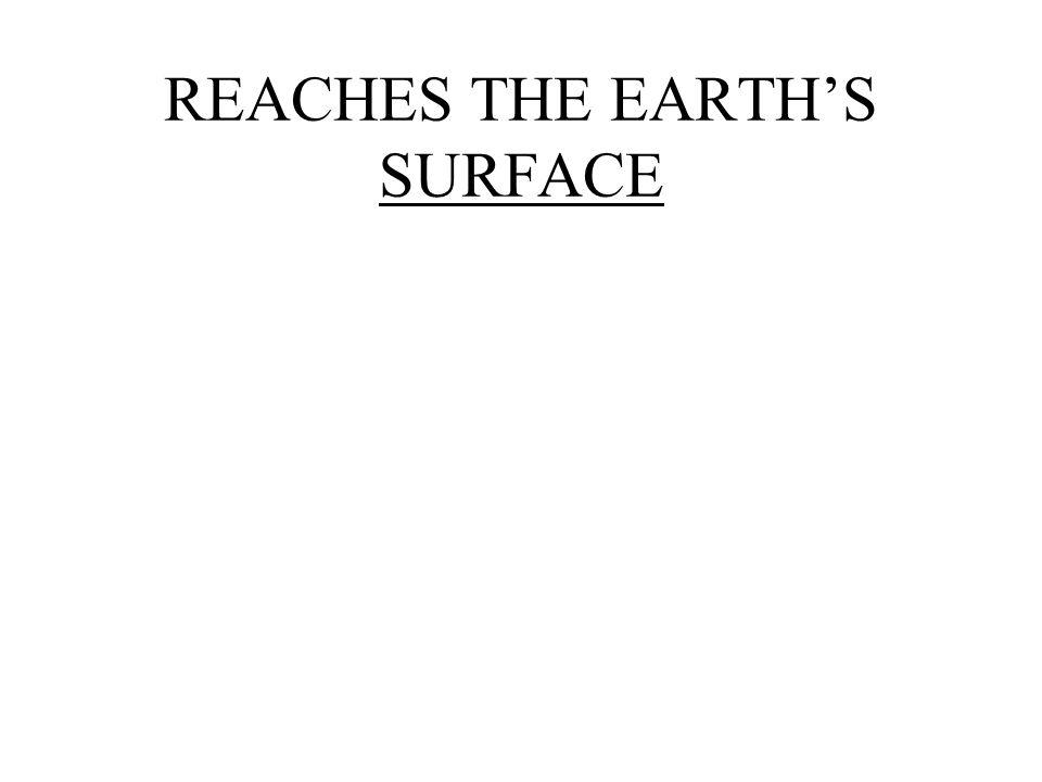 REACHES THE EARTHS SURFACE
