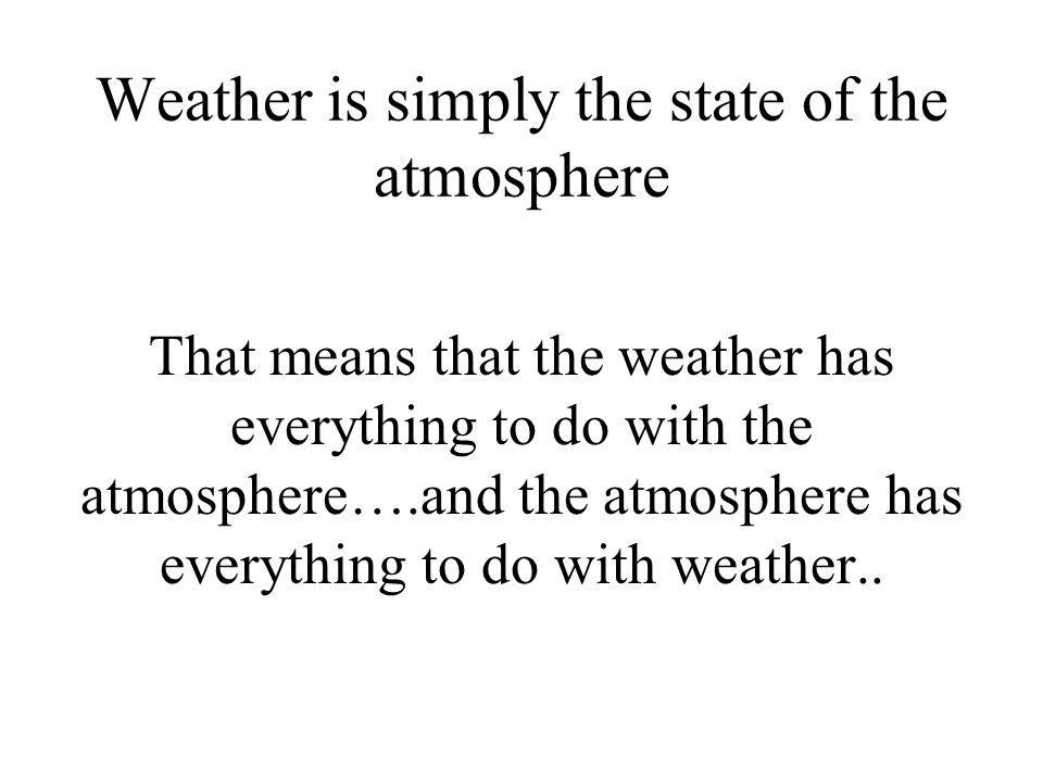 What determines the temperature?