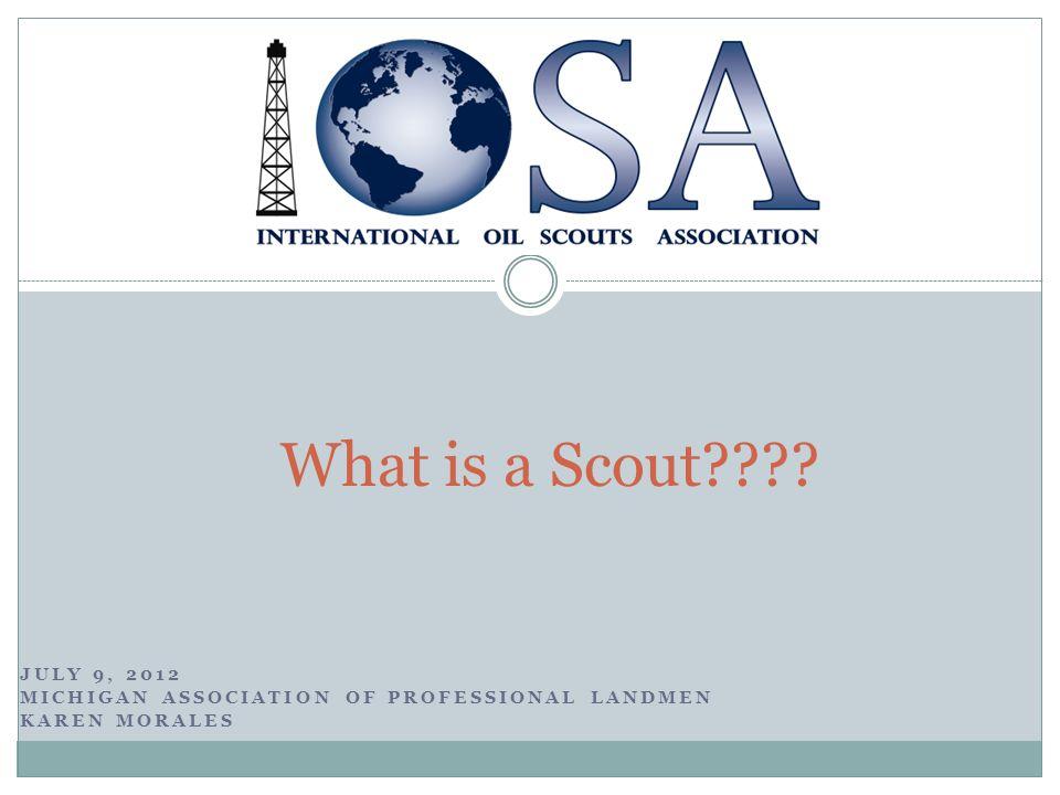 JULY 9, 2012 MICHIGAN ASSOCIATION OF PROFESSIONAL LANDMEN KAREN MORALES What is a Scout????
