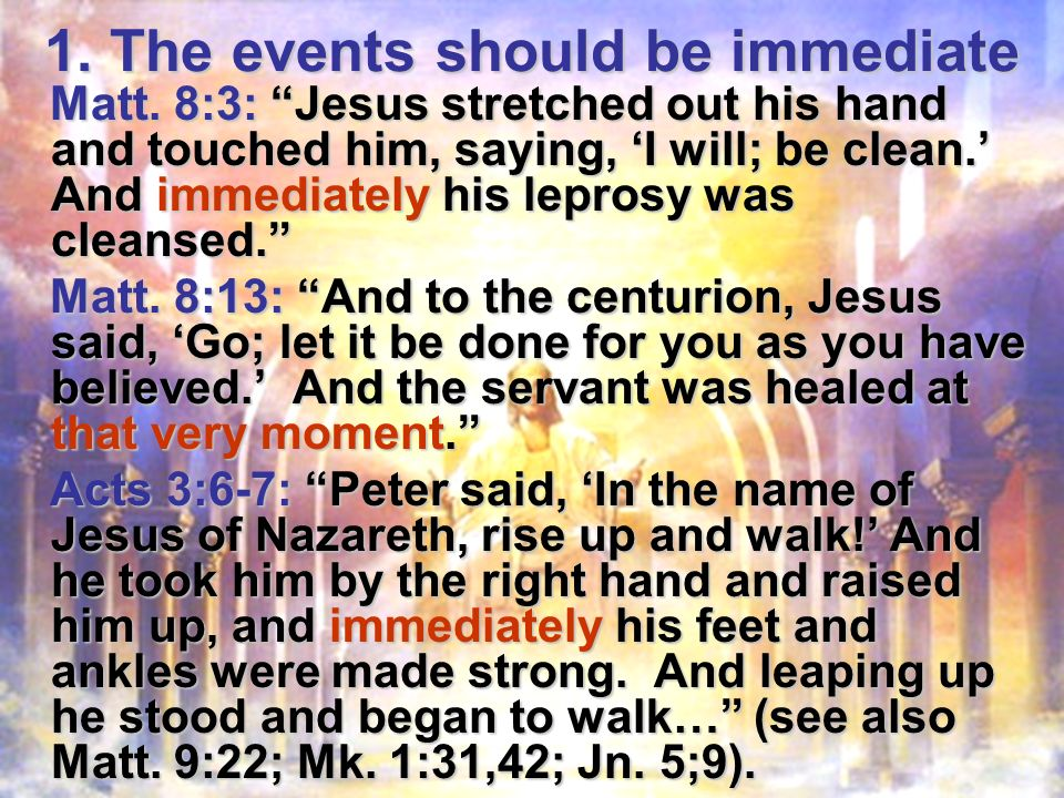 Moses promised supernatural judgments of God on Egypt (Ex.