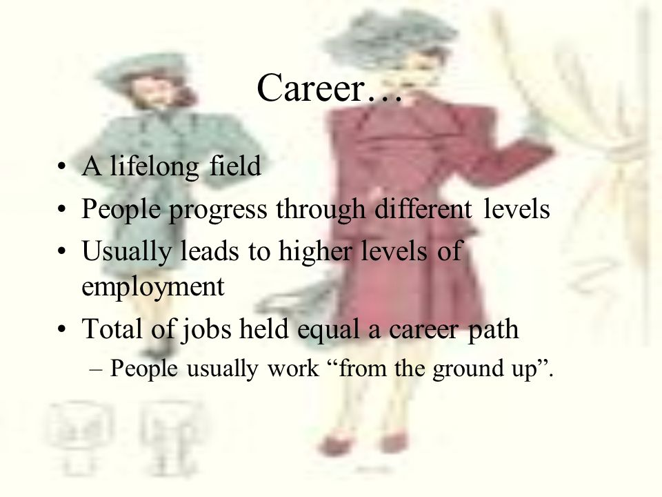 Job Levels Entry-level jobs –Beginning job in a career path –Provide foot in the door Management Positions –Deal with planning, organizing, controlling, implementing and monitoring an organization.