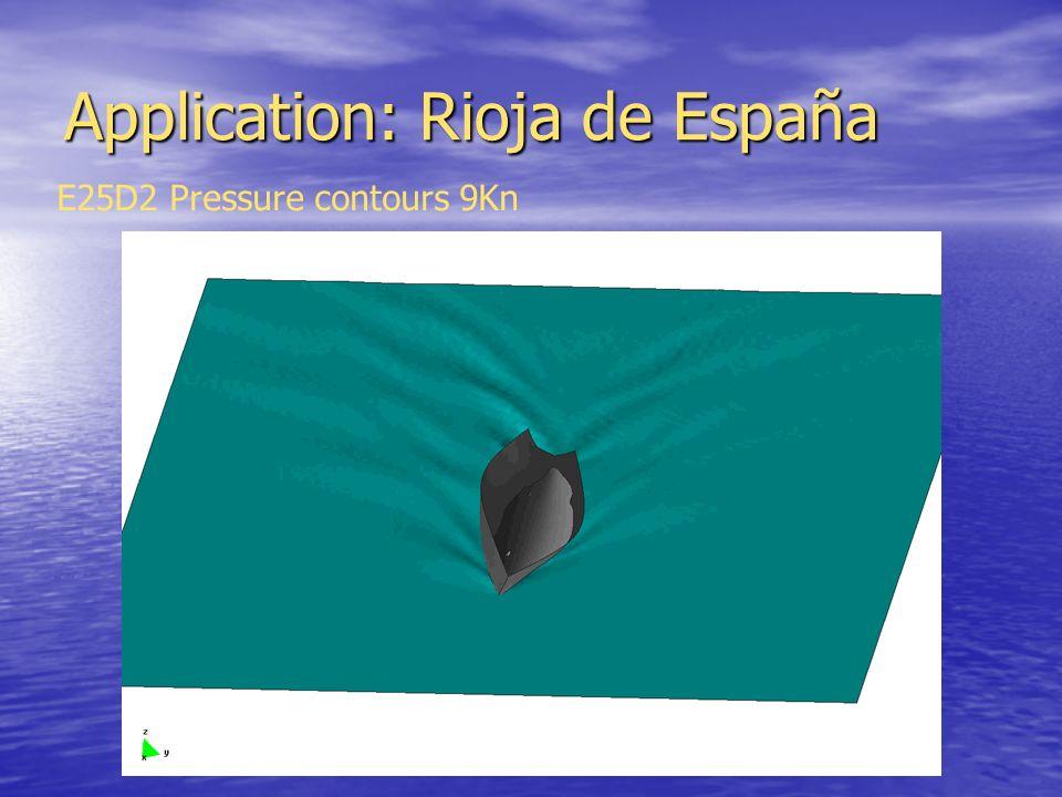Application: Rioja de España E25D2 Pressure contours 9Kn