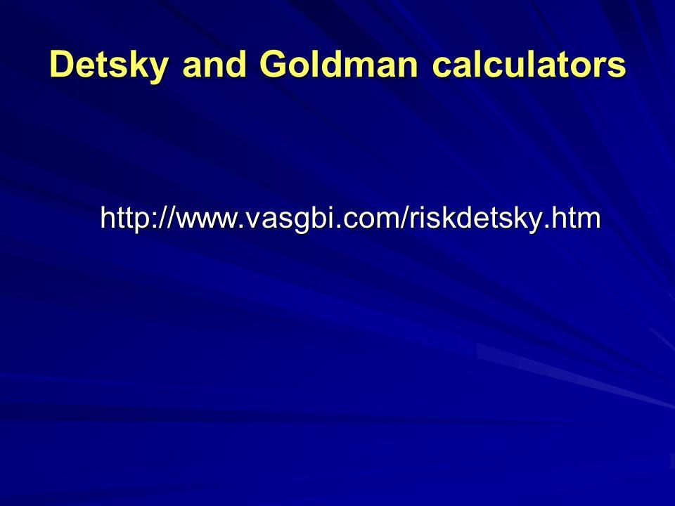Detsky and Goldman calculators http://www.vasgbi.com/riskdetsky.htm