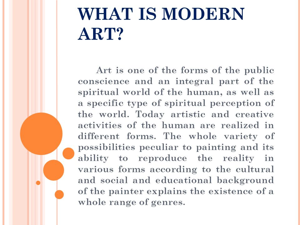 WHAT IS MODERN ART.