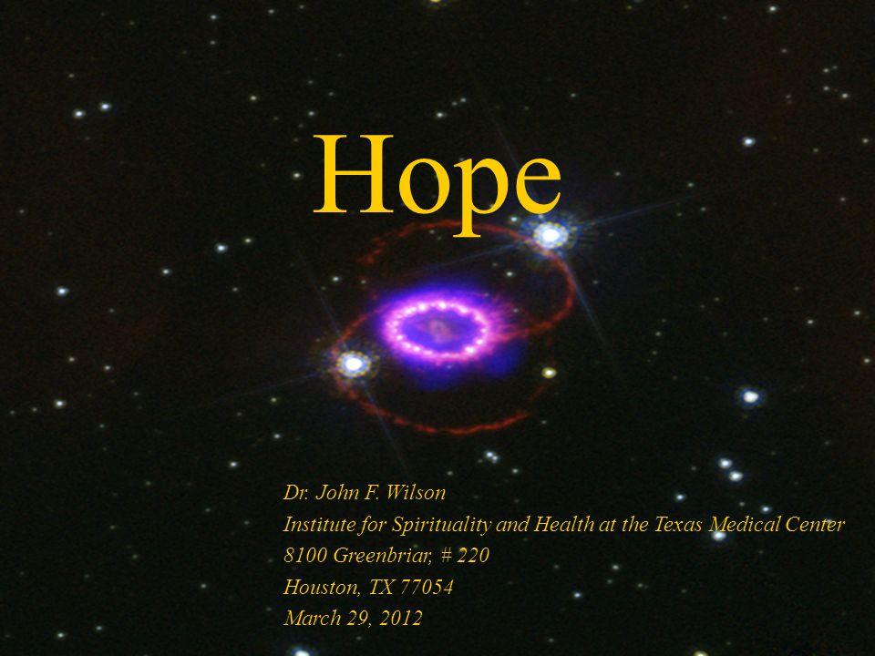 Hope Dr. John F.