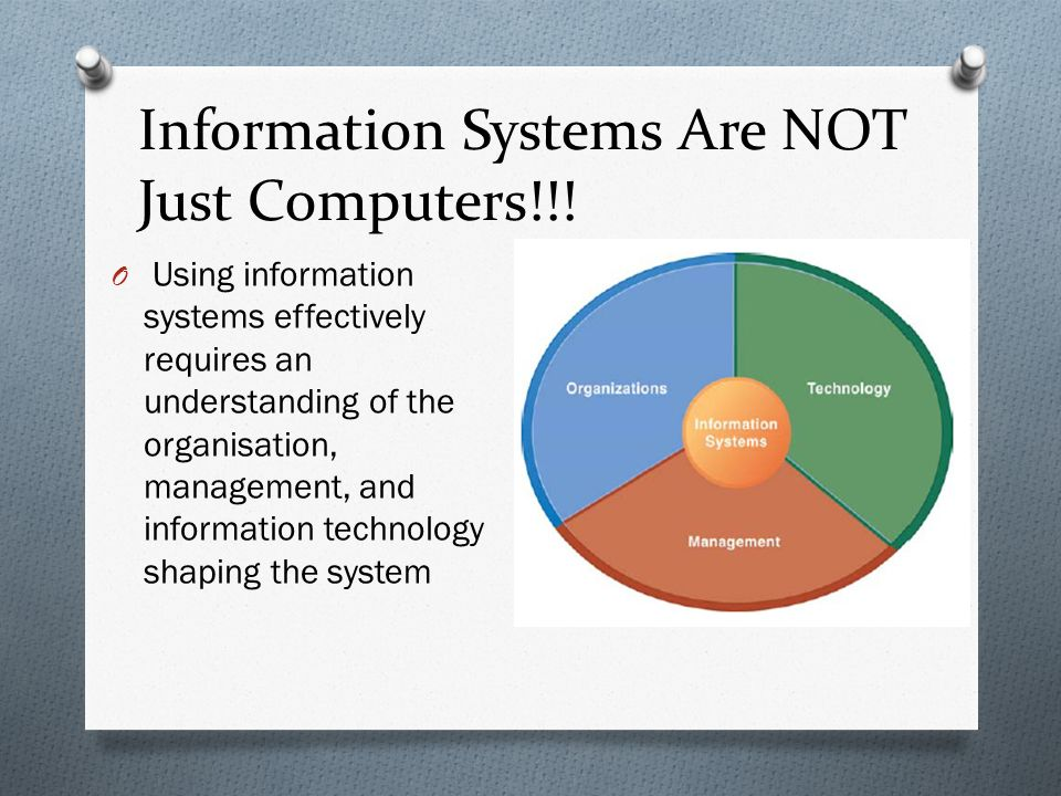 Information Systems Are NOT Just Computers!!.