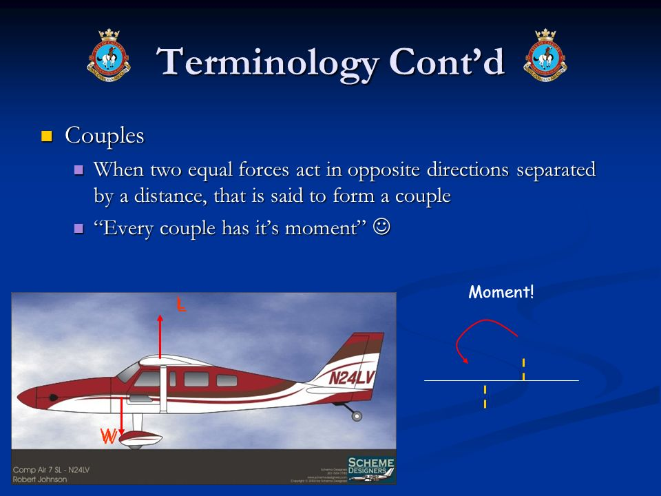 Terminology Contd Couples Couples When two equal forces act in opposite directions separated by a distance, that is said to form a couple When two equ