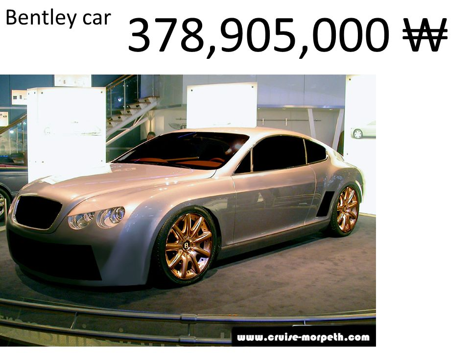 Bentley car 378,905,000