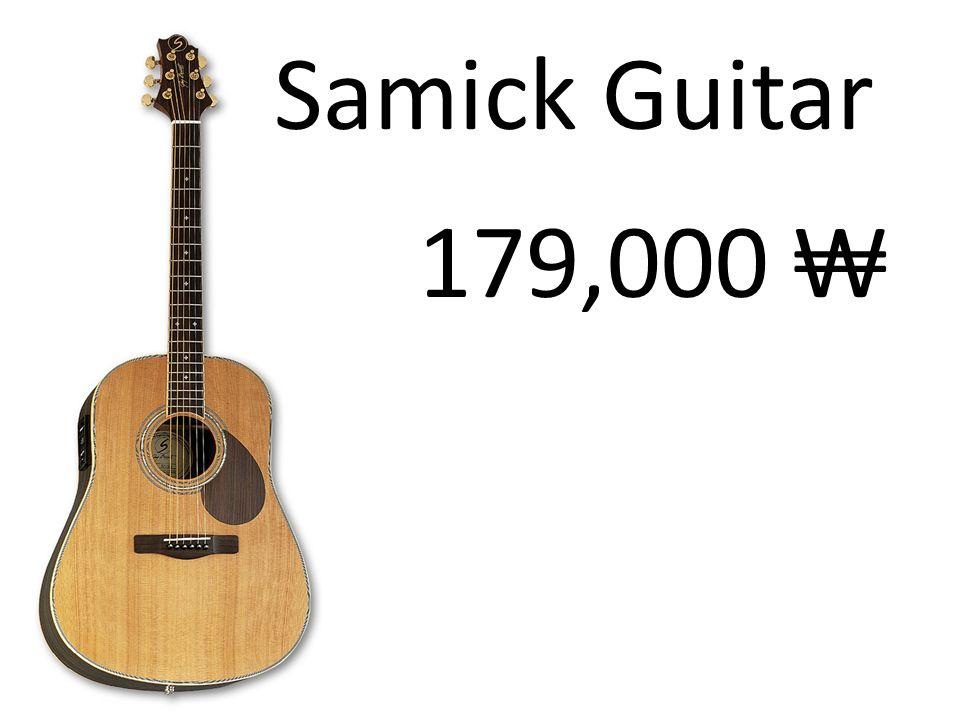 Samick Guitar 179,000