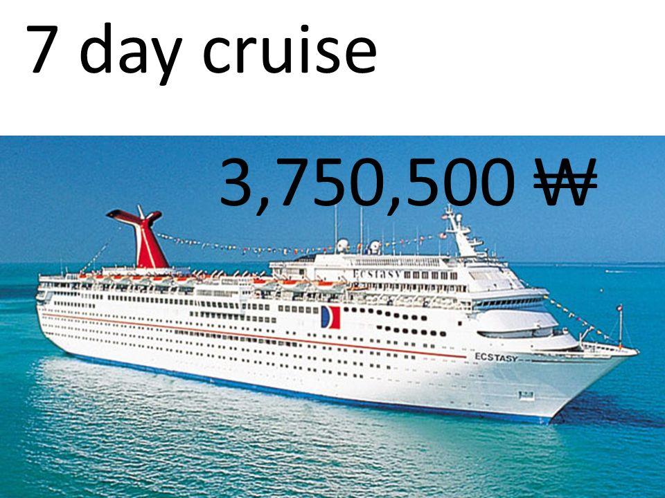 7 day cruise 3,750,500
