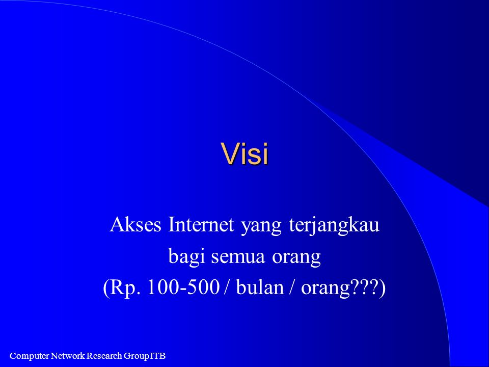 Computer Network Research Group ITB Indonesia Internet