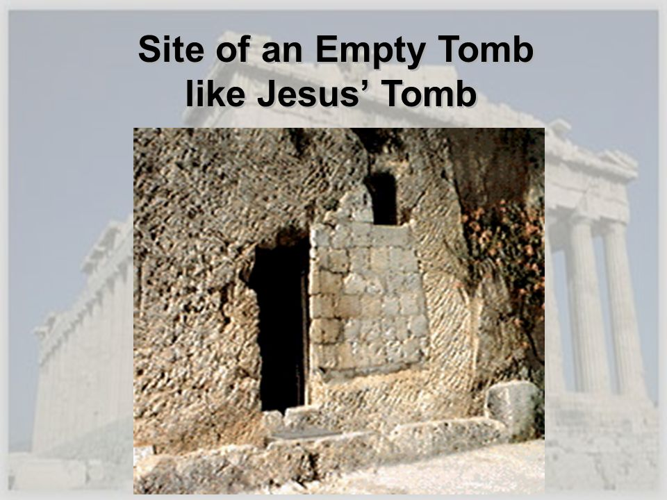 Site of an Empty Tomb like Jesus Tomb