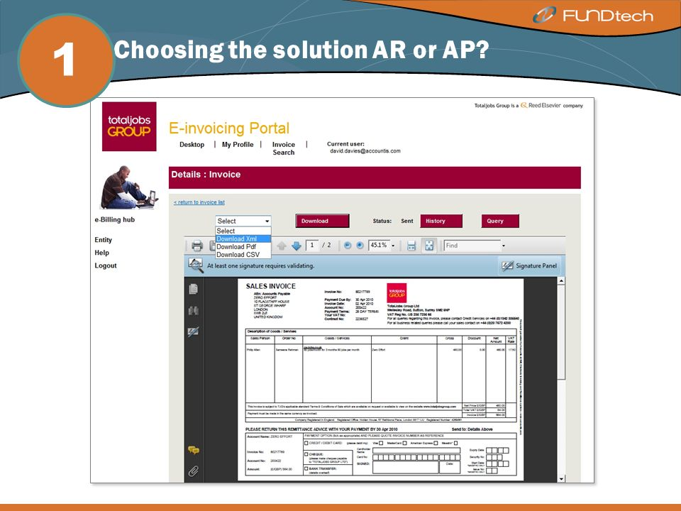 Step 1: Choosing the solution AR or AP 1