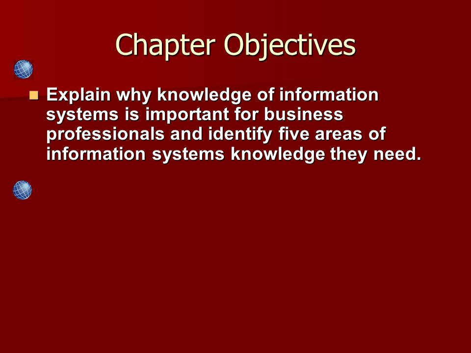 Explain why knowledge of information systems is important for business professionals and identify five areas of information systems knowledge they nee
