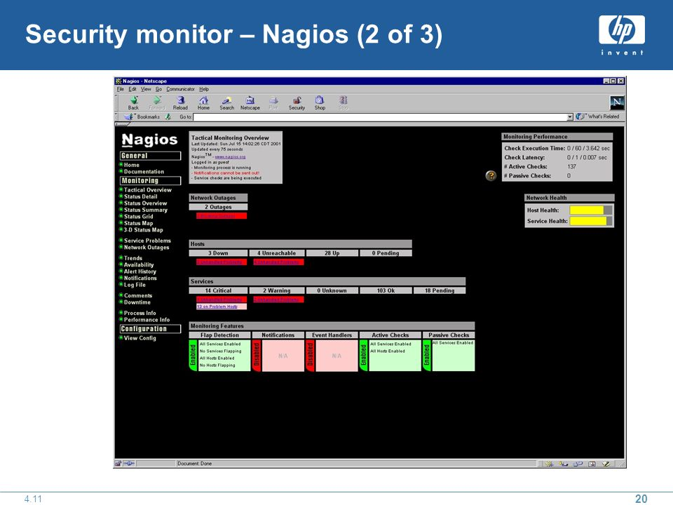 Security monitor – Nagios (2 of 3)
