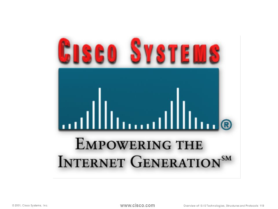 © 2001, Cisco Systems, Inc. www.cisco.com Overview of IS-IS Technologies, Structures and Protocols 119