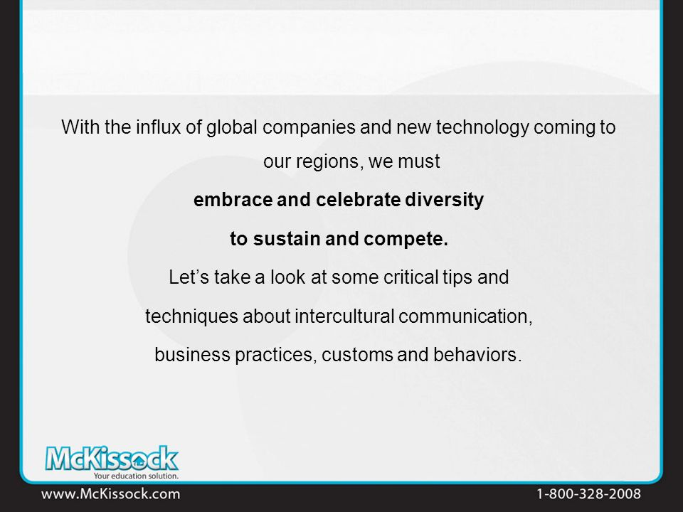 With the influx of global companies and new technology coming to our regions, we must embrace and celebrate diversity to sustain and compete. Lets tak