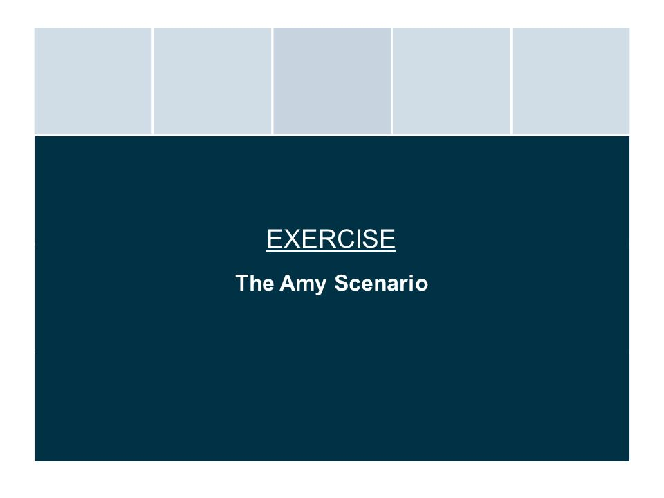 EXERCISE The Amy Scenario