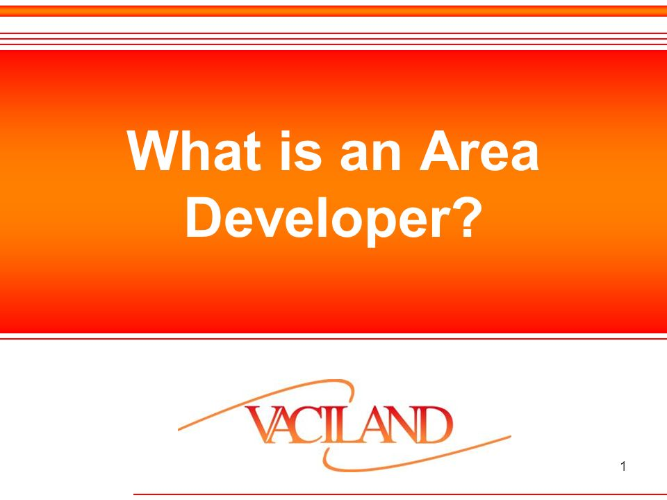 1 What is an Area Developer?