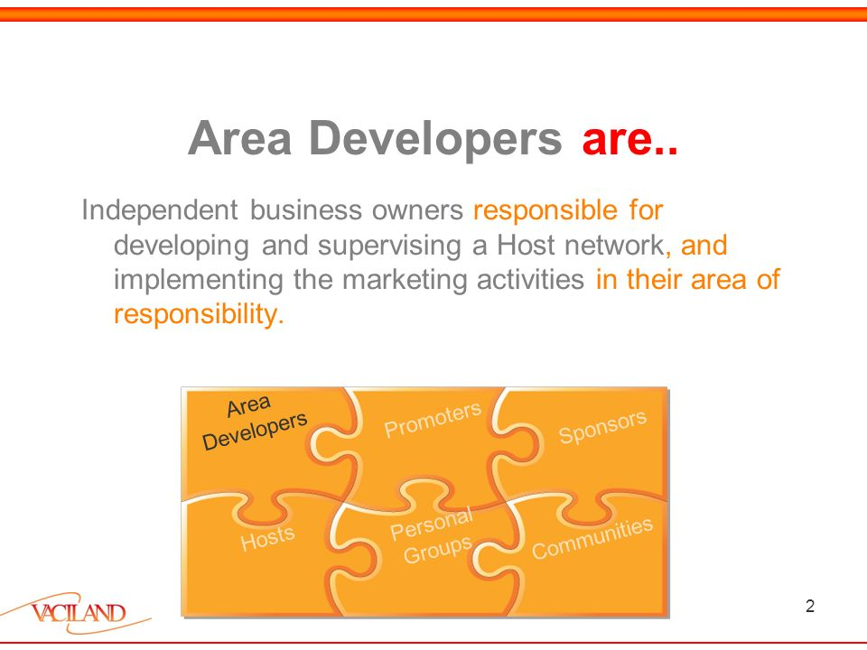 2 Area Developers are..