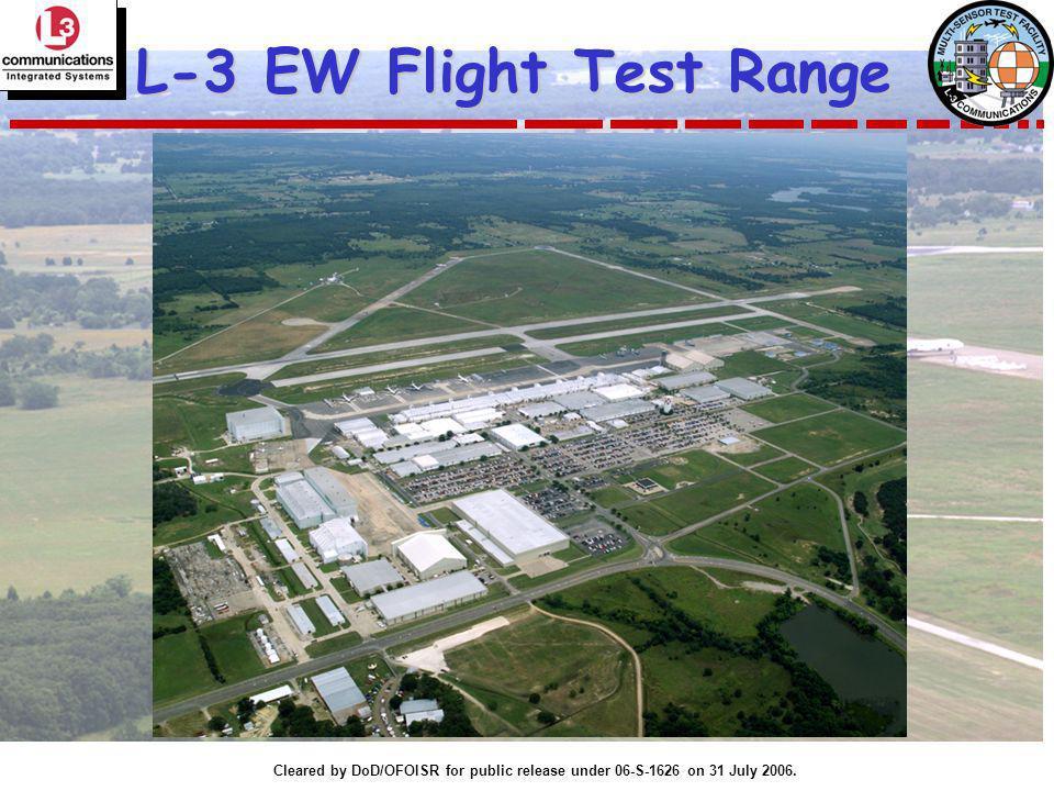 Cleared by DoD/OFOISR for public release under 06-S-1626 on 31 July 2006. L-3 EW Flight Test Range
