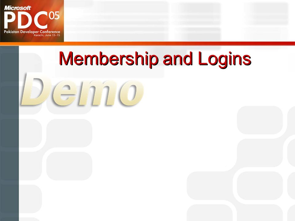 Membership and Logins