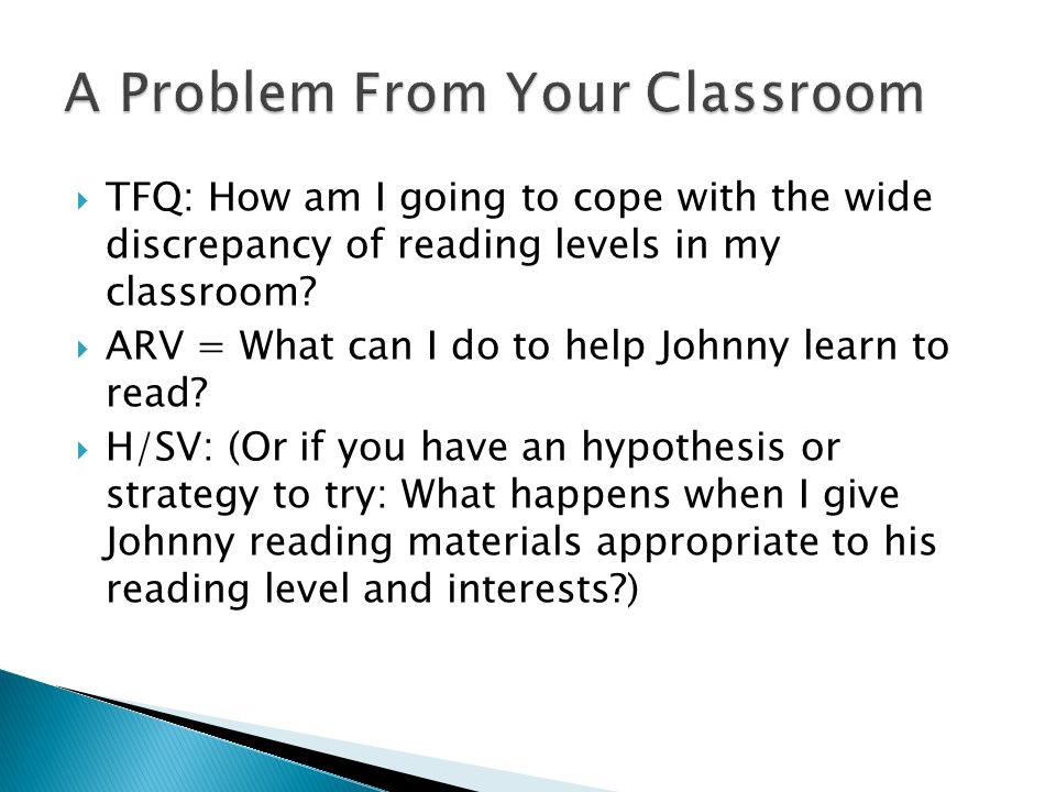 TFQ: How am I going to cope with the wide discrepancy of reading levels in my classroom.