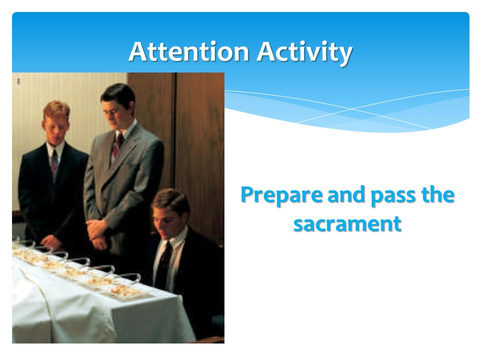 Confer the gift of the Holy Ghost Attention Activity